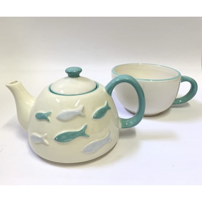 Set teapot and cup...