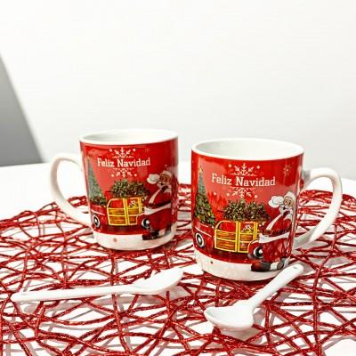 Set in ceramica Babbo Natale