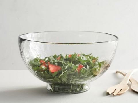 Salad bowls and serving plates
